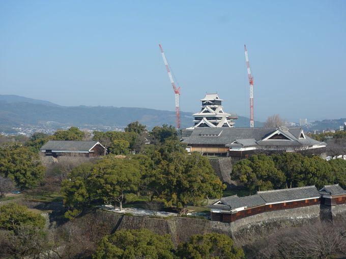 2日目午前:穴場スポットで熊本城を眺めた後は、「ミルクロード」で絶景の阿蘇へ