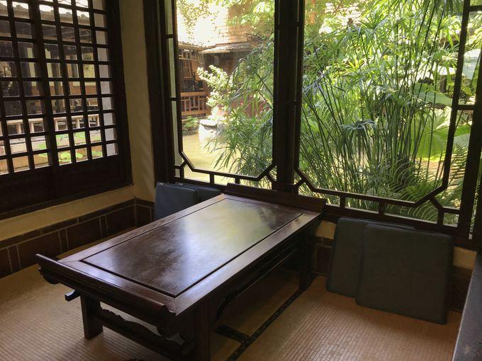 緑溢れる茶芸館「無為草堂」でヘルシーランチ