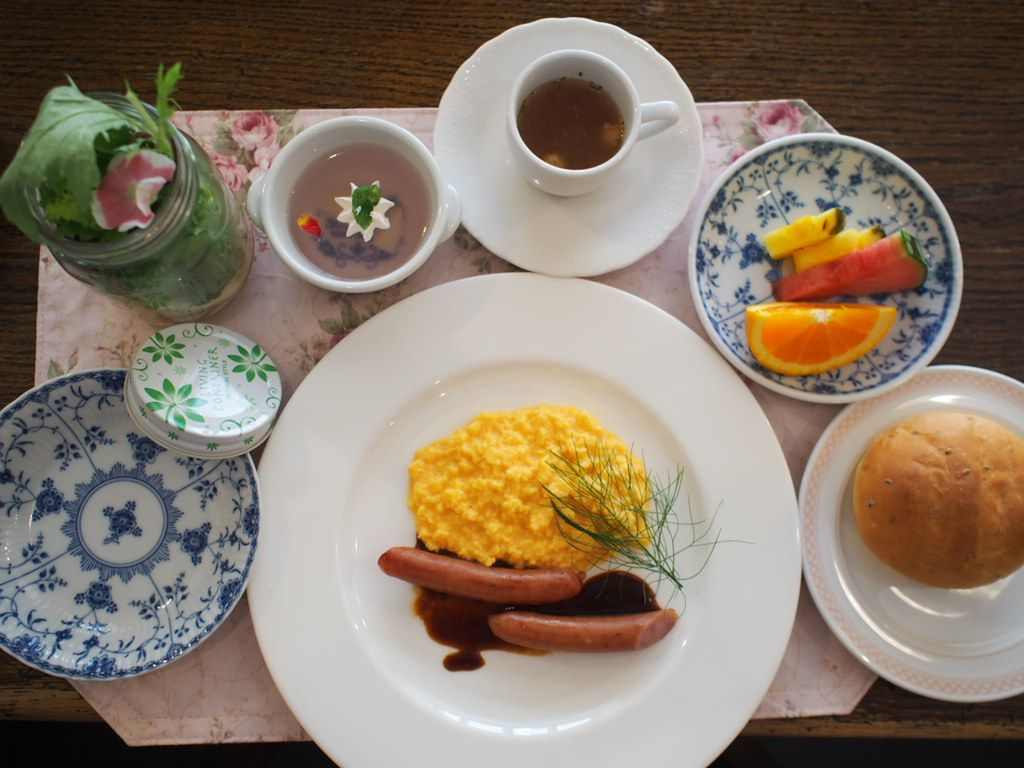 一日の始まりはヘルシーな朝食で