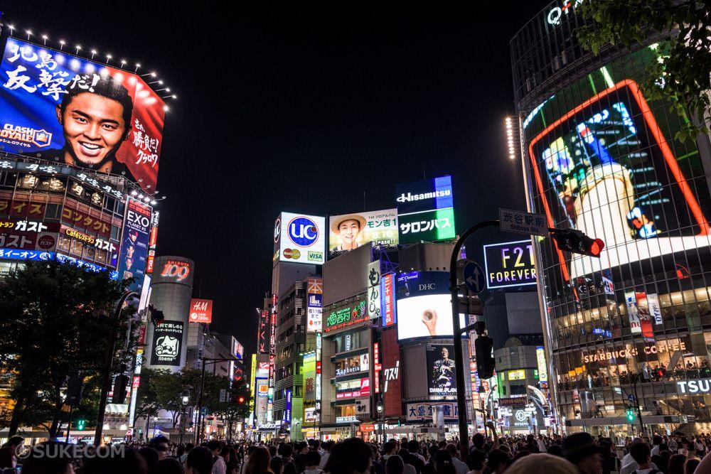 JR渋谷駅から徒歩5分圏内の定番観光スポット