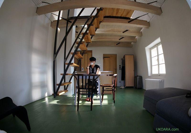 チェコ・ミクロフ「シュタインハウス」のアパートメントステイ