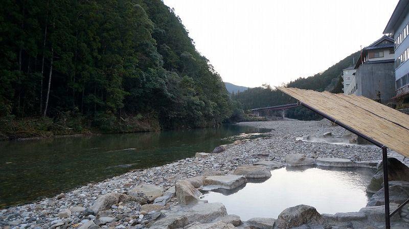 奥熊野で川湯と混浴を楽しむ