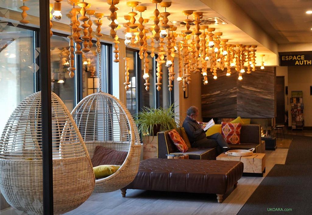 美食を楽しむホテル 南ケベック「Espace 4 Saisons」