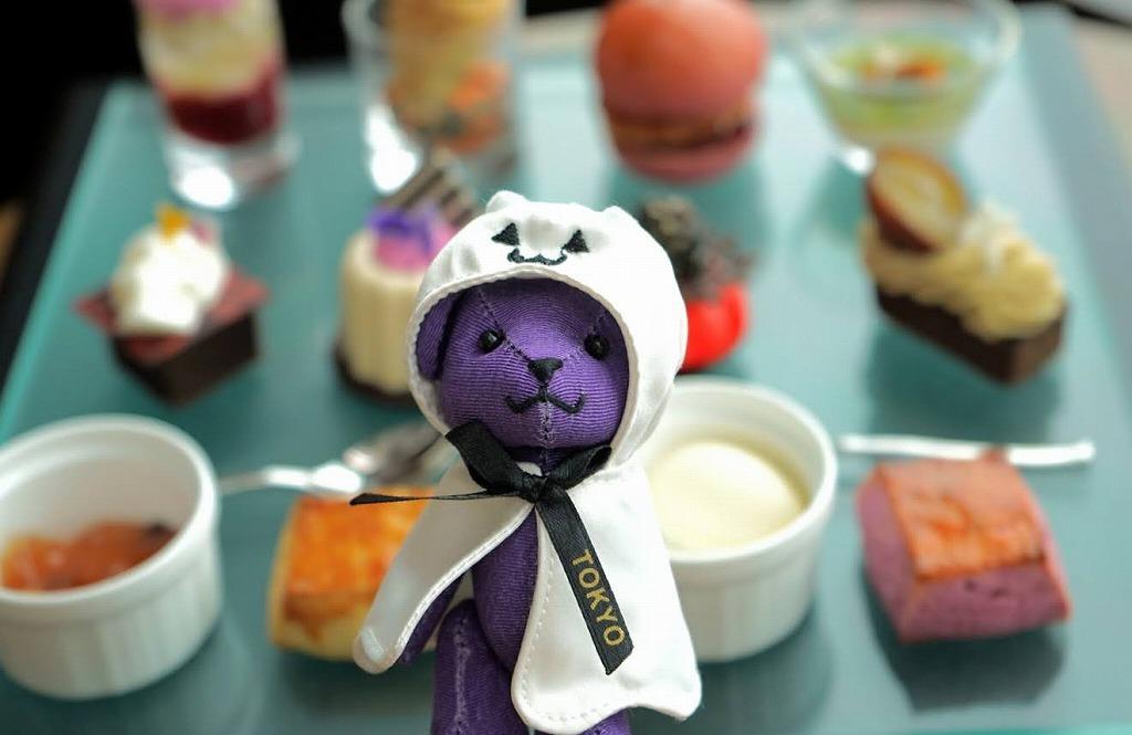 ハロウィンバージョンの紫芋スコーンが登場