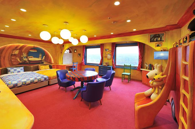 「ハイランドリゾートホテル&スパ」の客室も絵本の中のよう!