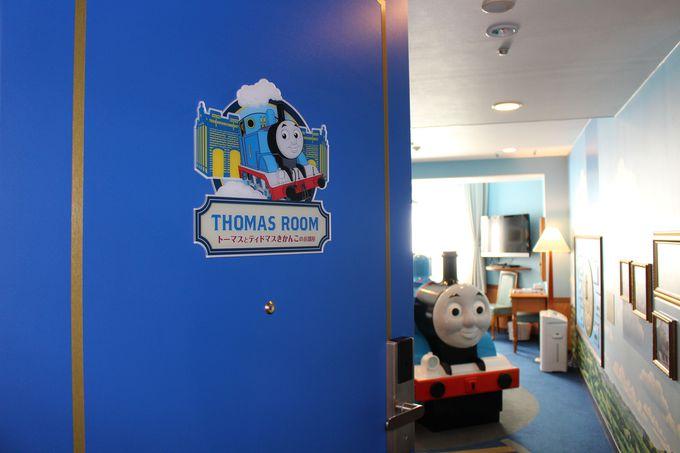 1番・2番人気のお部屋の秘密は巨大な機関車オブジェ!