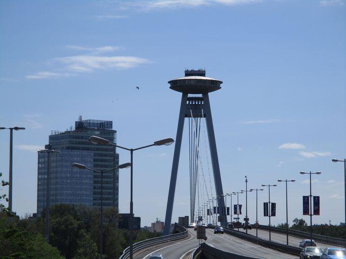ブラチスラバ城から見る眺めも良し!UFOも見れます