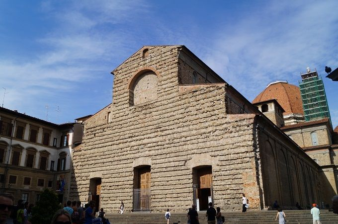 祖国の父コジモ・イル・ヴェッキオの眠る場所 サン・ロレンツォ教会