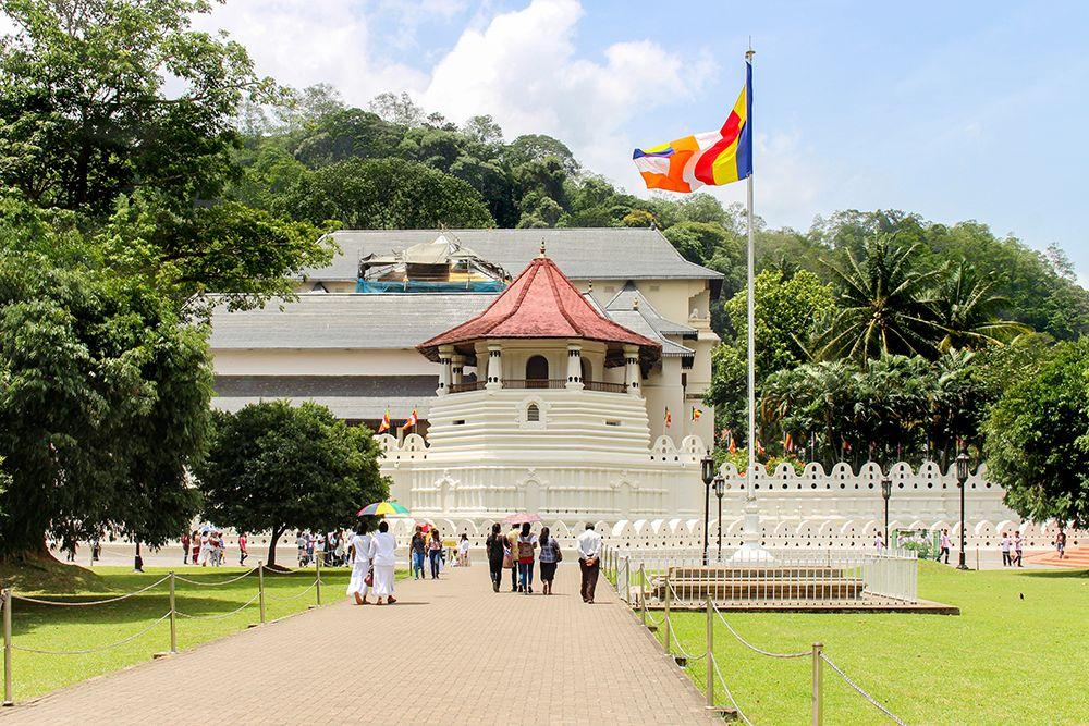 午前9時:仏歯寺のプージャを見学