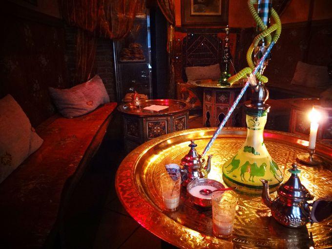 アラブ喫茶(テテリア)でお茶を