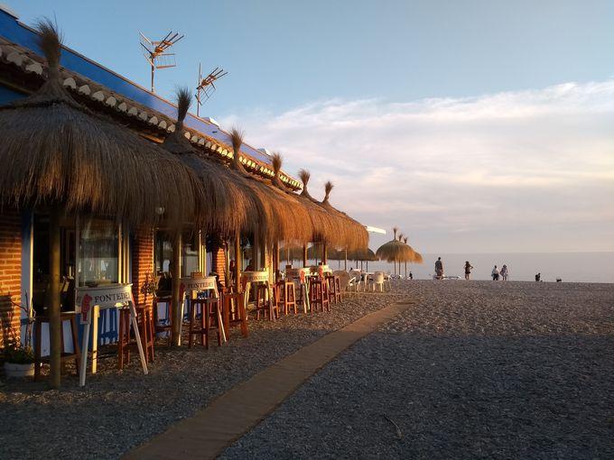観光後はビーチでマッタリ