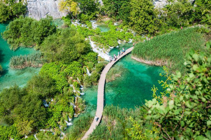 プリトヴィツェ湖群国立公園の公式のキャンプサイト