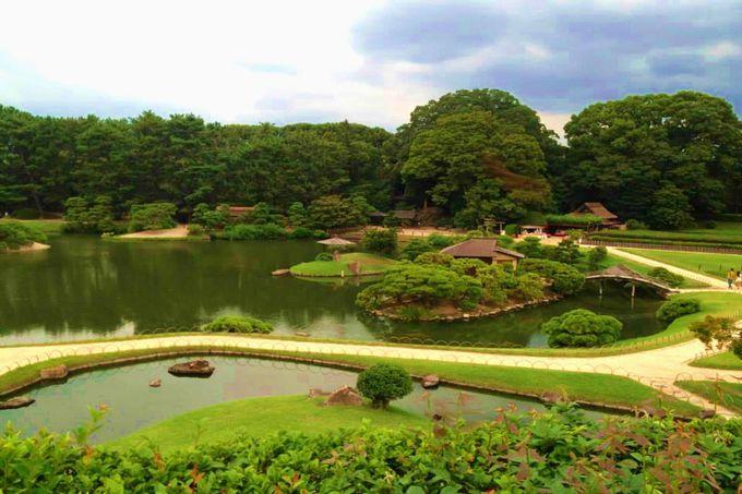 総面積133,000平方メートル、東京ドーム3個分の赤茶けた庭園を一望する