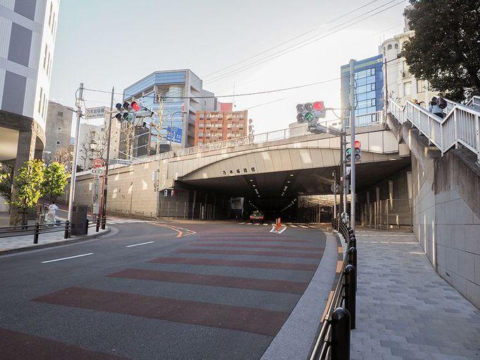 乃木坂陸橋と乃木坂トンネル