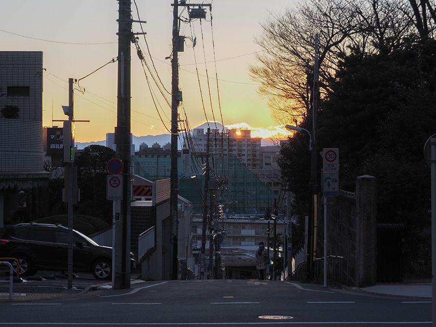 今でも目黒の富士見坂から富士山が見える!