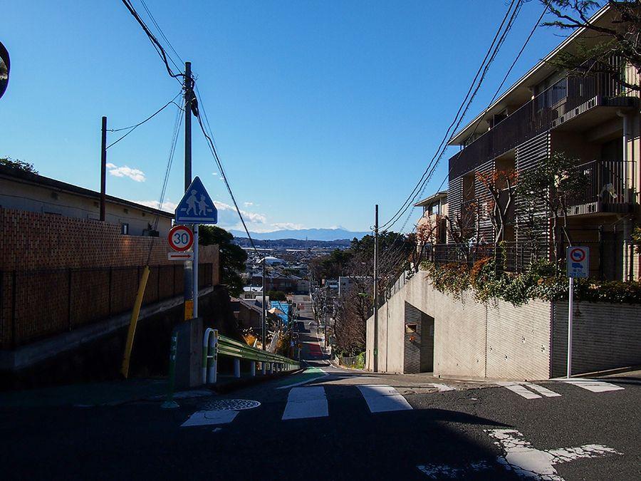 世田谷にも富士山が見える坂道!砧公園から近い岡本の東京富士見坂
