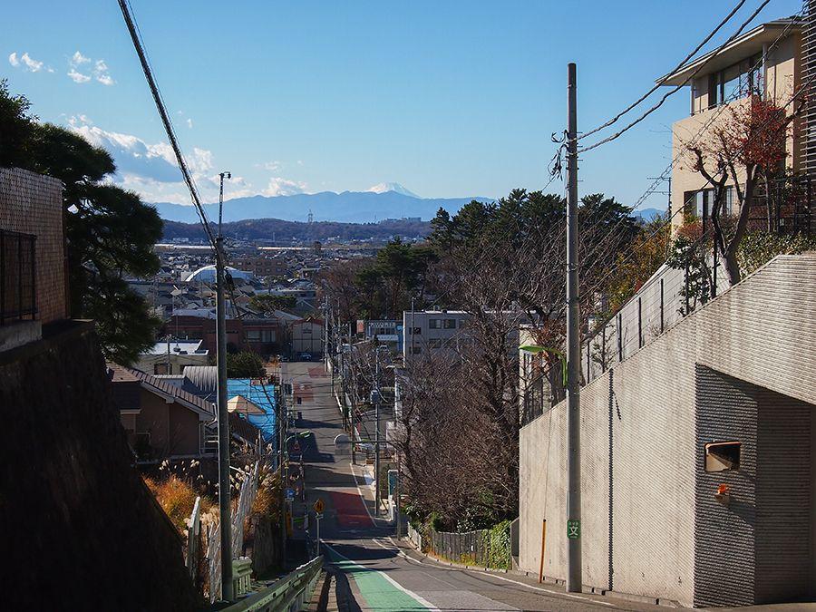 富士山がよく見える東京富士見坂