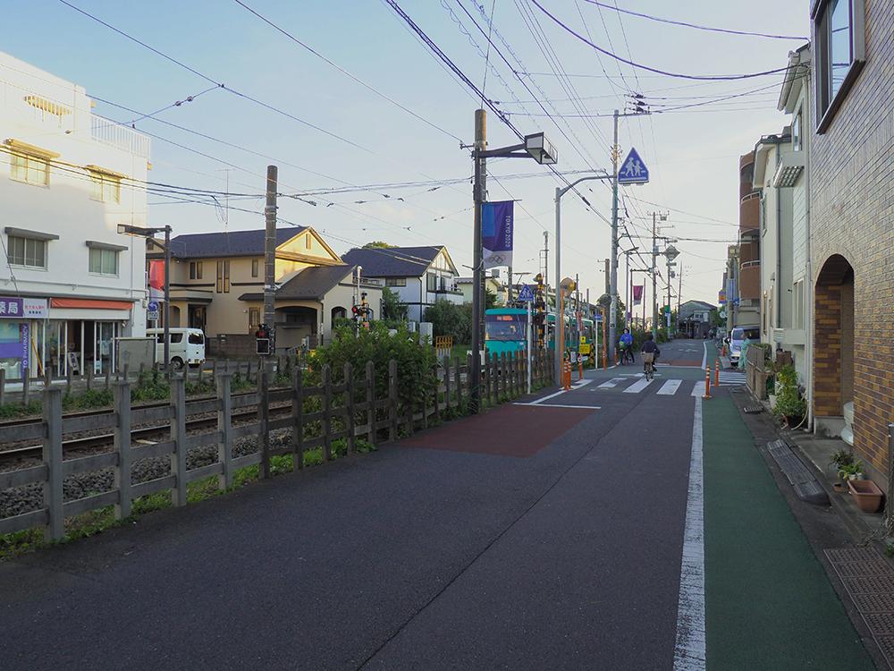 豪徳寺商店街と古道