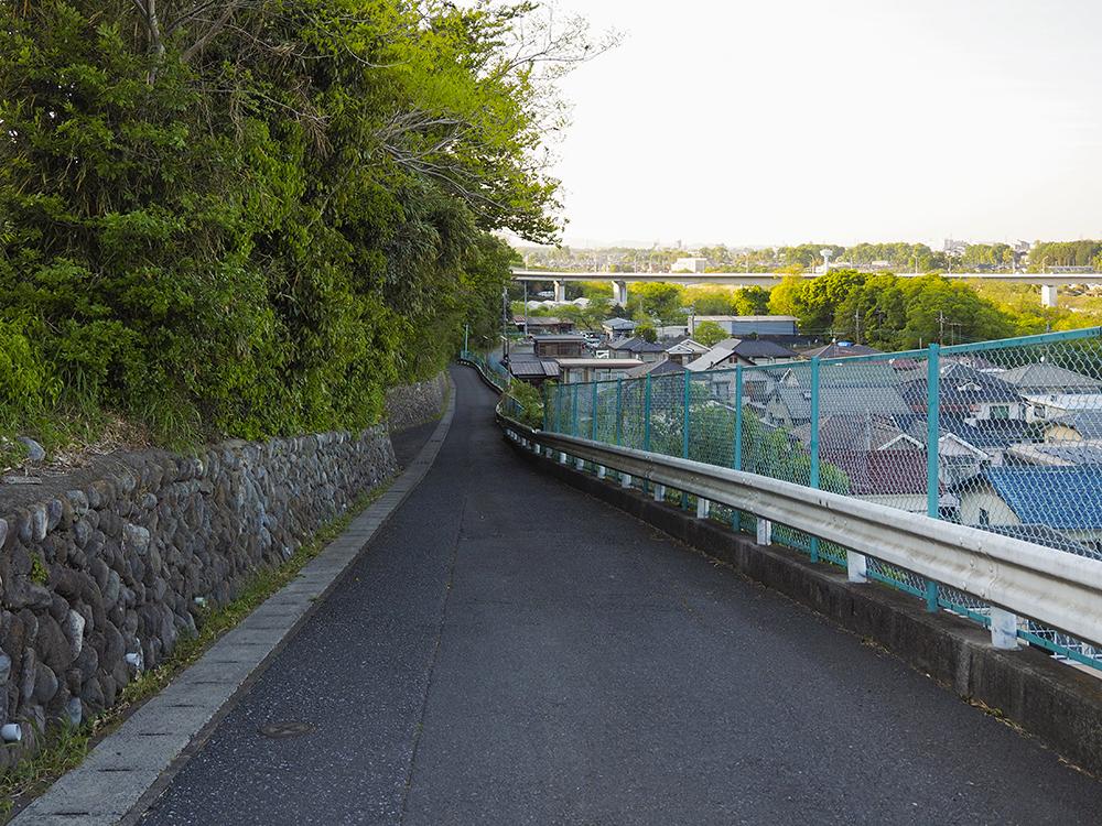 羽村大橋もみることができる折立坂