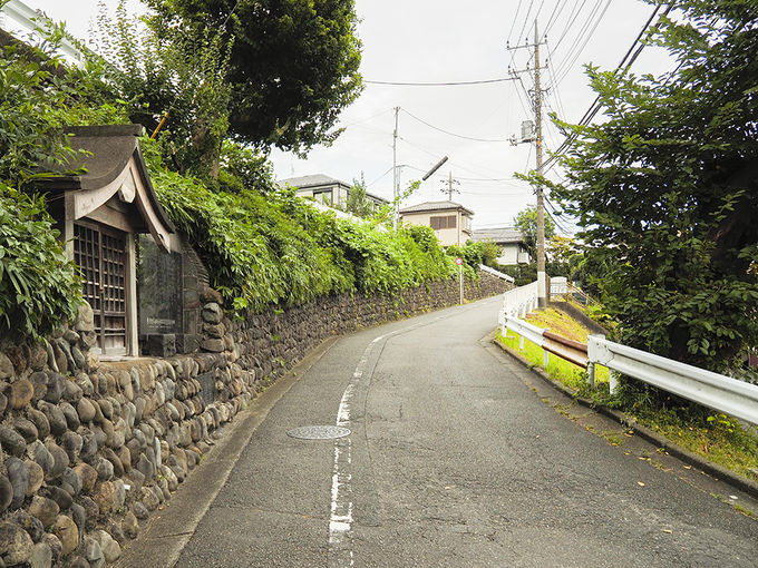 立川空襲の記憶を残している山中坂