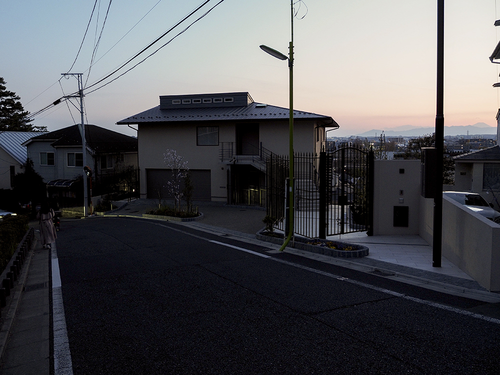不動坂およびなかんだの坂と富士山