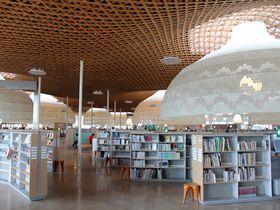 木の大屋根と光のドームの近未来図書館「みんなの森 ぎふメディアコスモス」