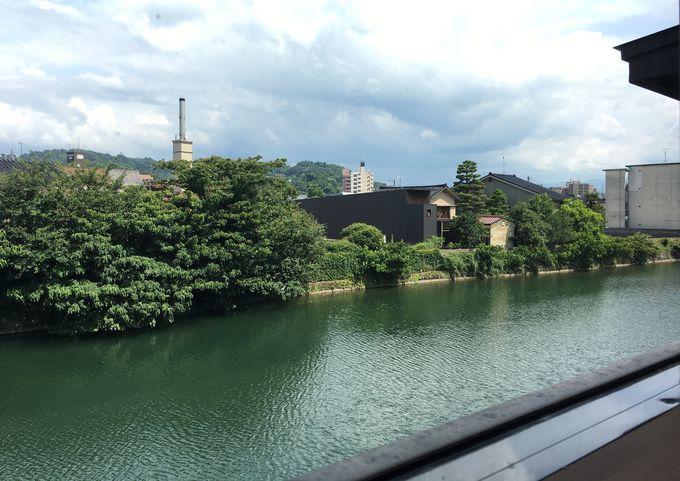 浅野川沿いだからこその眺望