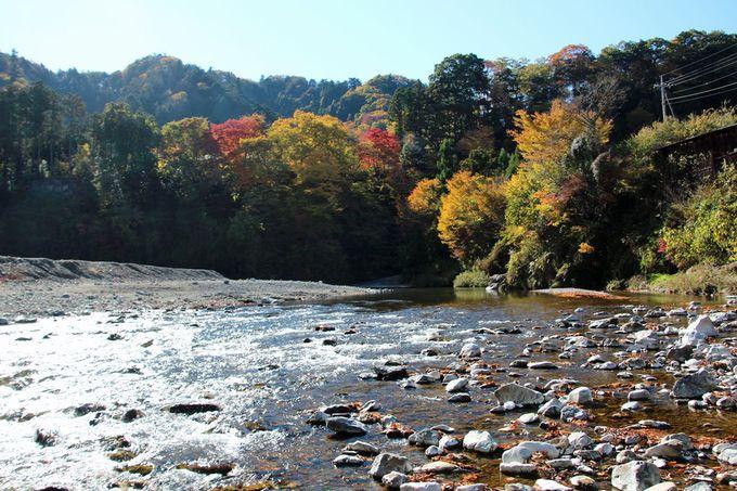 河原で過ごす静かなひととき