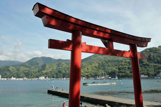 御浜岬から見る戸田の港の景観も楽しもう