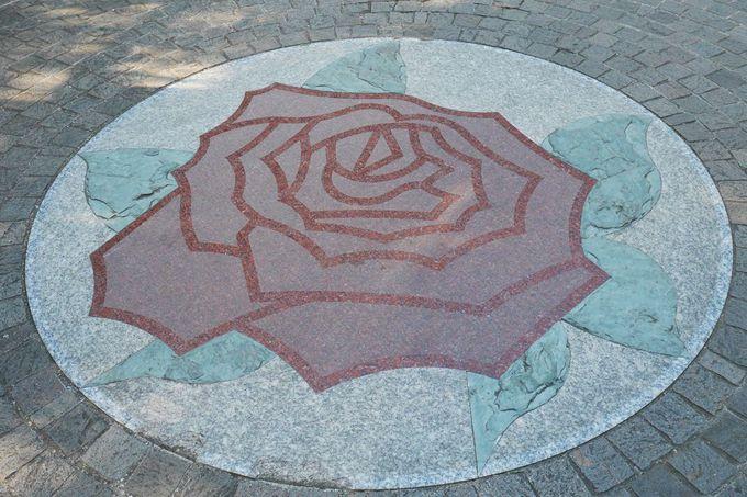 「アメリカ山公園」のバラのモチーフはとってもお洒落!