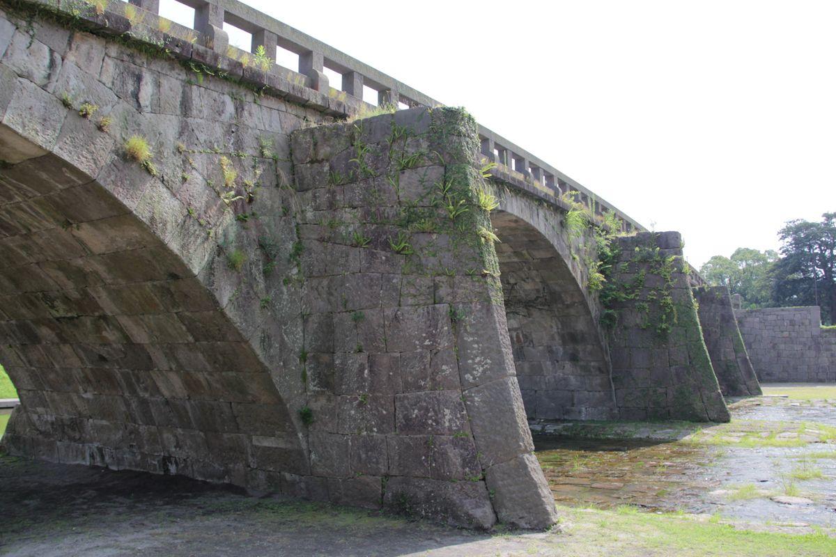 祇園之洲公園に保存された高麗橋と玉江橋も必見!