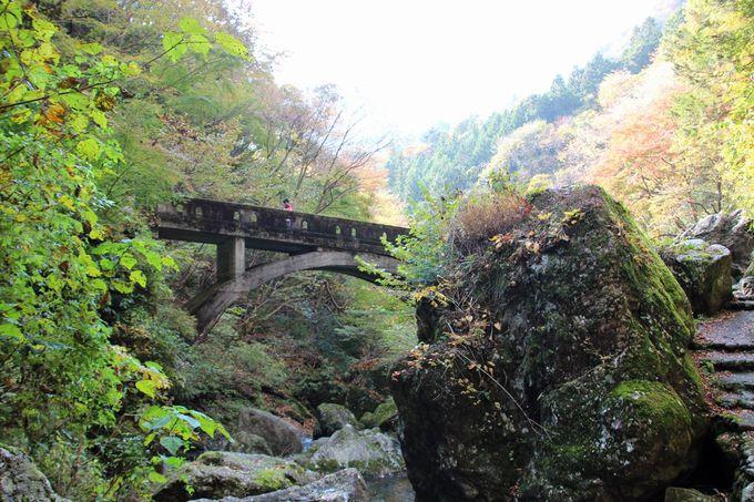 古びた橋とトンネルの景観も見所のひとつ