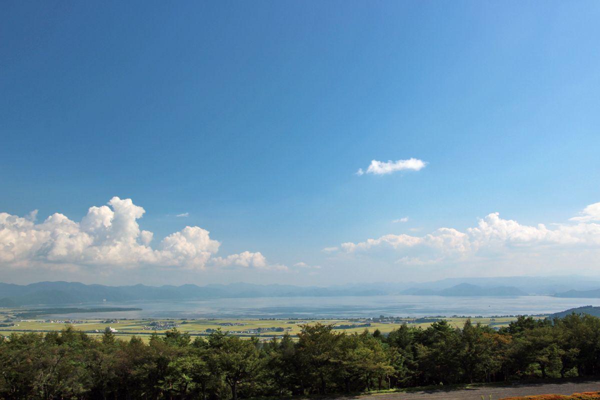 「昭和の森」の展望所から猪苗代湖を見下ろそう!