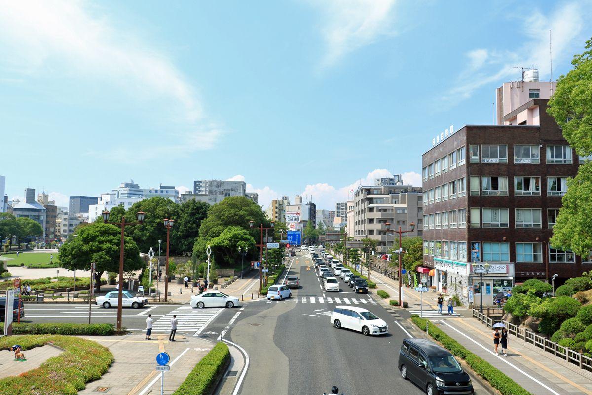 日本一長い国道58号はここが起点、「中央公民館前」