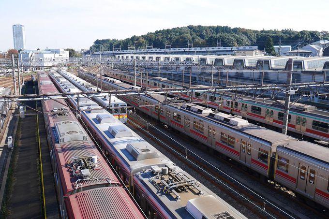 たくさんの車両が並ぶ「長津田検車区」は必見!