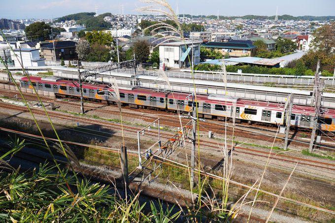 長津田橋から西へ、南側の道を辿って線路を見下ろそう!
