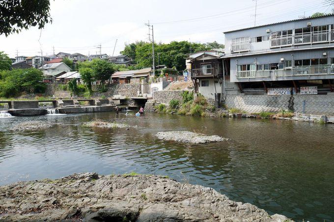 木材運搬の中継地や行楽地として賑わった「飯能河原」