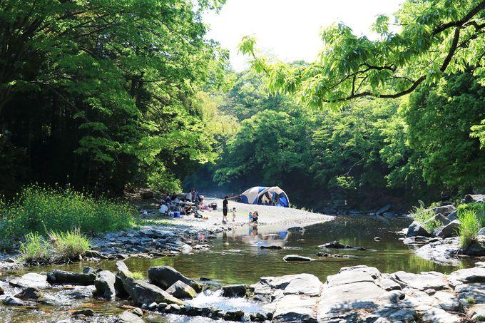 槻川の渓流美も楽しもう!嵐山渓谷の中心部へ足を延ばすのもお勧め