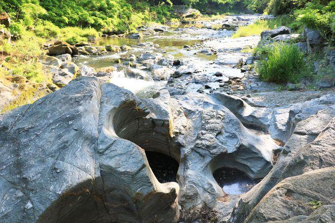 「遠山甌穴」の大きさと深さを間近に見てみよう!