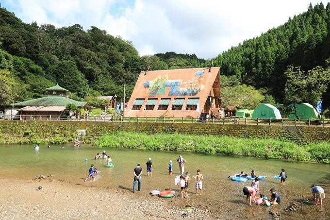 大川原峡キャンプ場で川遊びを楽しもう