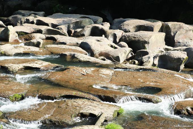 国指定天然記念物の甌穴群を見よう