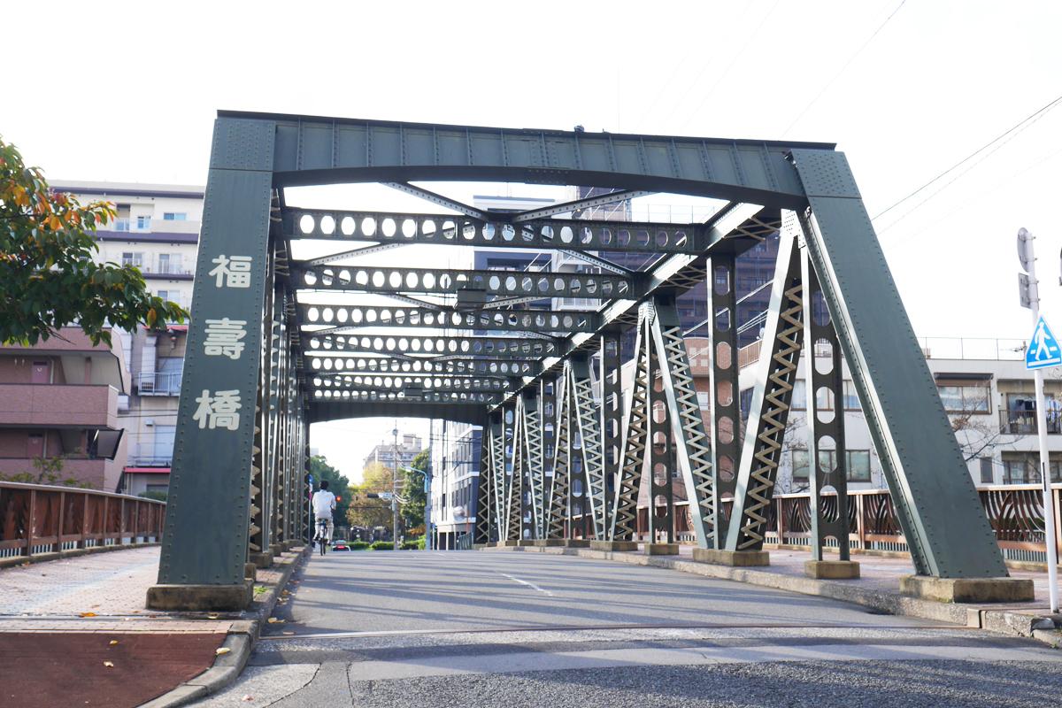 橋の上からの景観もお勧めの福寿橋