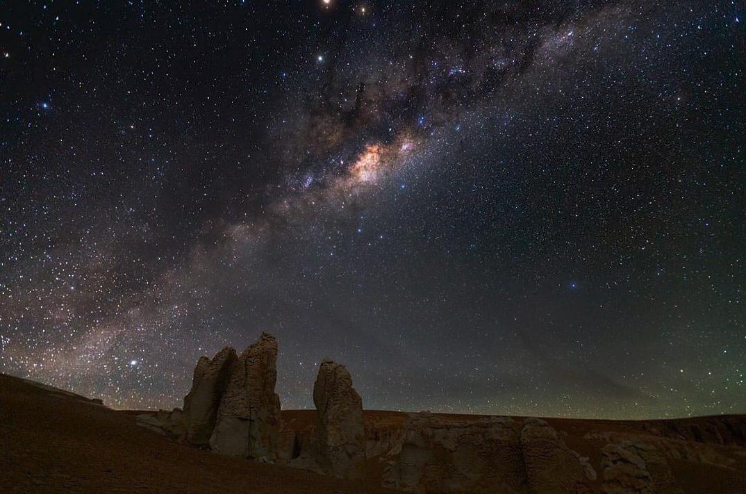 アタカマ砂漠で星を見る
