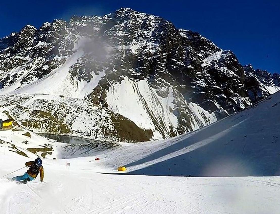ポルティージョでスキーをする