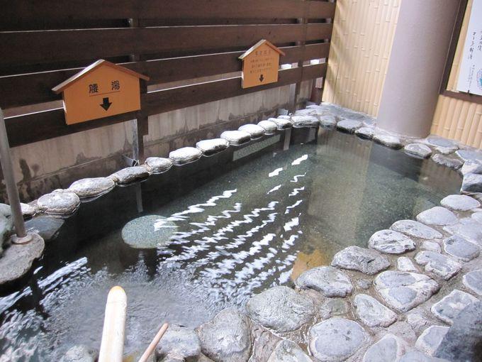 「湯村ホテルB&B」のかけ流し温泉はレベル高し