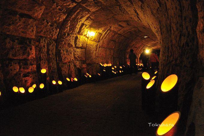 オルゴールの音色が響く小さなトンネル