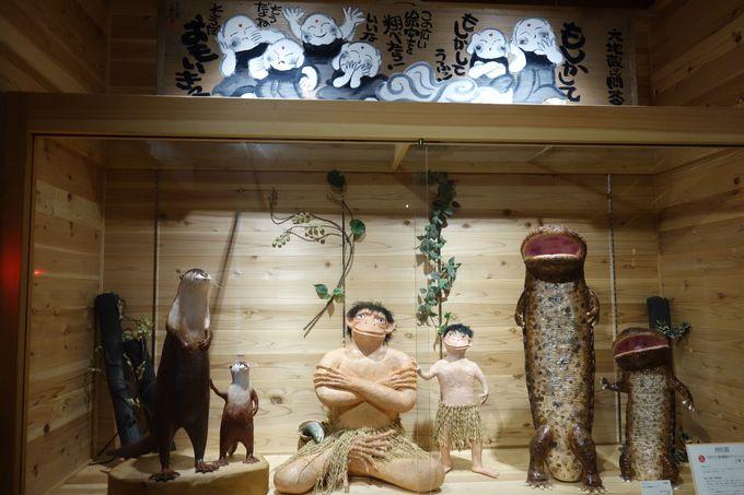 気持ちよい木の香漂う館内には1300体以上のカッパたち!