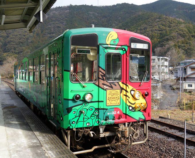 世界で唯一、カッパの鳴き声を持つ電車「かっぱうようよ号」