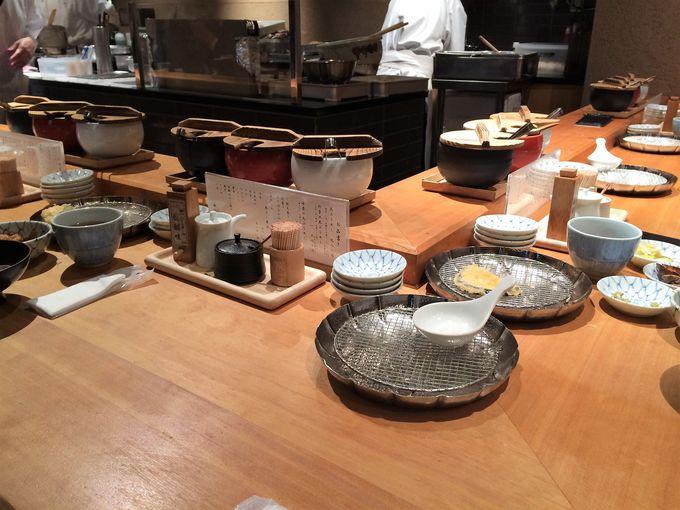職人が目の前で揚げる天ぷら