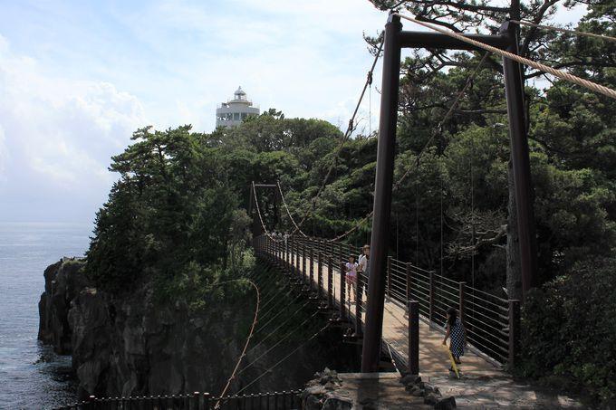 ワクワク、ドキドキの門脇吊橋を渡ろう